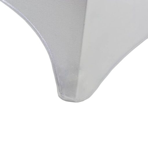 vidaXL stolebetræk 6 stk. strækbar sølvfarvet