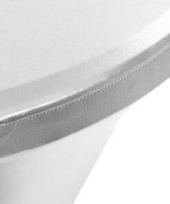 vidaXL borddug 2 stk. stræk 70 cm sølvfarvet