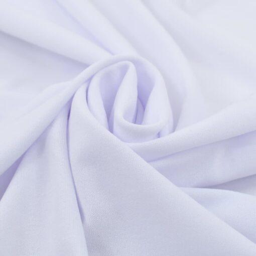 vidaXL strækbare bordduge med skørt 2 stk. 150 x 74 cm hvid