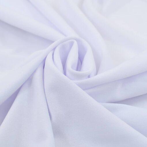 vidaXL strækbare bordduge med skørt 2 stk. 120 x 60,5 x 74 cm hvid