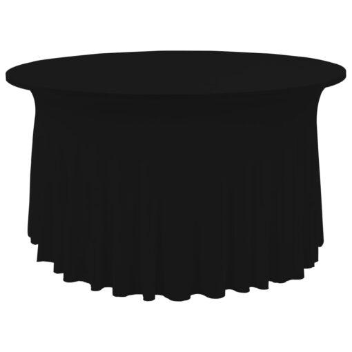 vidaXL strækbare bordduge med skørt 2 stk. 180 x 74 cm sort