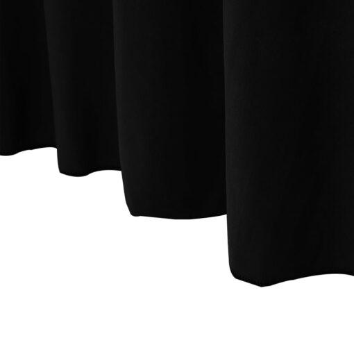 vidaXL strækbare bordduge skørt 2 stk. 183 x 76 x 74 cm sort