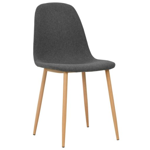 vidaXL spisebordsstole 4 stk. stof mørkegrå