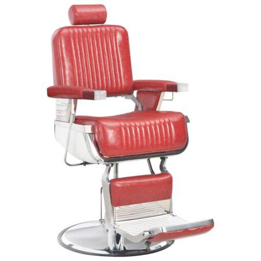 vidaXL frisørstol 68 x 69 x 116 cm kunstlæder rød