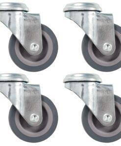 vidaXL drejehjul med bolthul 4 stk. 50 mm