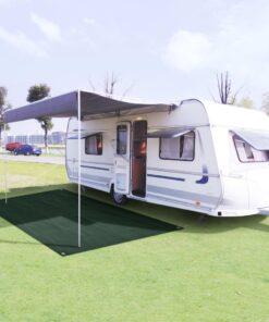 vidaXL telttæppe 250 x 500 cm HDPE grøn