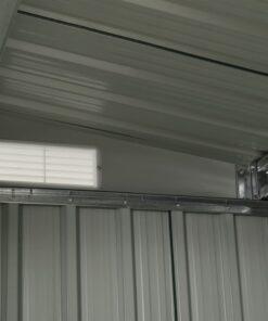 vidaXL haveskur med skydedøre 386 x 205 x 178 cm stål antracitgrå
