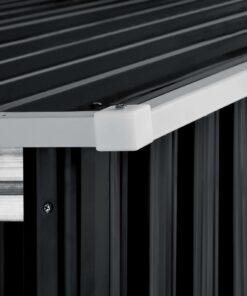 vidaXL haveskur med forlænget tag 335x278x184 cm stål antracitgrå