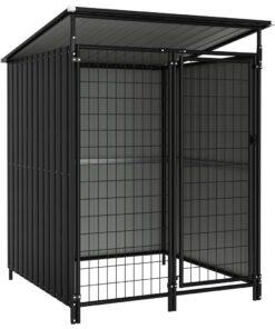 vidaXL udendørs hundebur 133x133x163 cm