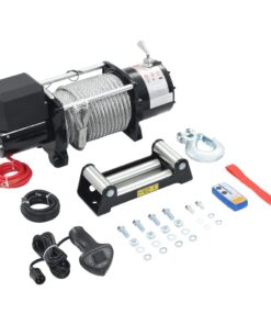 vidaXL elektrisk hejsespil 12 V 17000 lbs 7711 kg med fjernbetjening