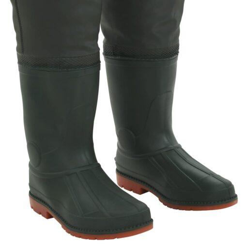 vidaXL waders med støvler grøn str. 38