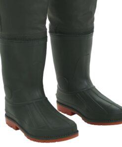 vidaXL waders med støvler grøn str. 41