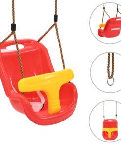vidaXL babygynge med sikkerhedssele PP rød