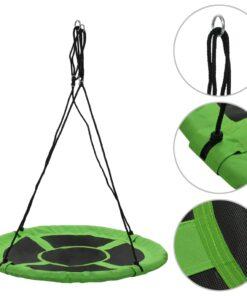 vidaXL gynge 110 cm 150 kg grøn