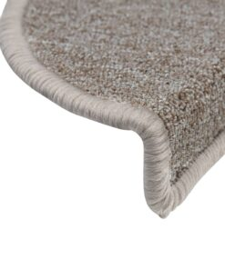 vidaXL 15 stk. trappemåtter 65 x 24 x 4 cm gråbrun