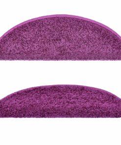 vidaXL 15 stk. trappemåtter 56 x 20 cm violet