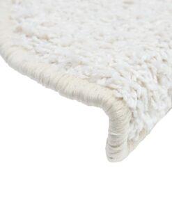 vidaXL 15 stk. trappemåtter 56 x 20 cm hvid