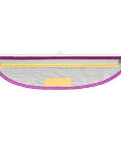 vidaXL 15 stk. trappemåtter 65 x 25 cm violet