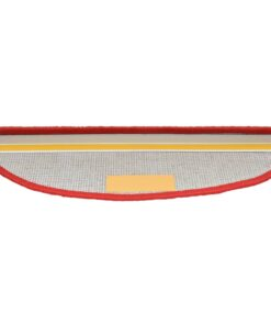 vidaXL 15 stk. trappemåtter 65 x 25 cm rød