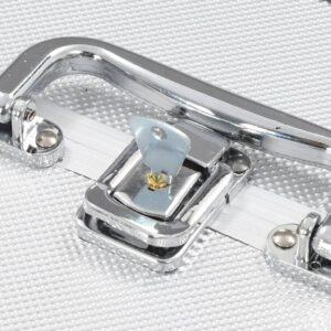 vidaXL makeupkuffert 22 x 30 x 21 cm sølvfarvet aluminium