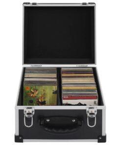 vidaXL CD-kasse til 40 CD'er aluminium ABS sort