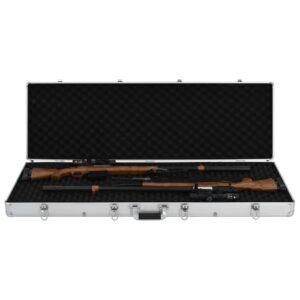 vidaXL våbenkasse 118 x 38 x 12 cm aluminium sølvfarvet