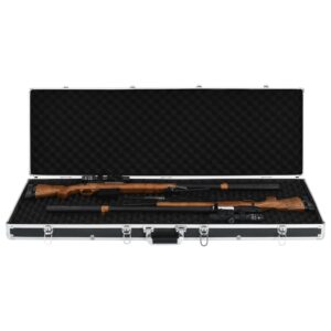 vidaXL våbenkasse 118 x 38 x 12 cm aluminium sort