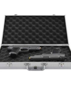 vidaXL våbenkasse aluminium ABS sølv