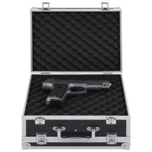 vidaXL våbenkasse aluminium ABS sort