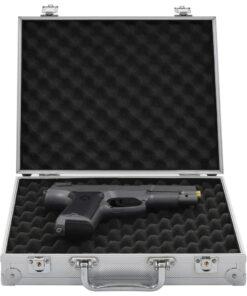 vidaXL våbenkasse aluminium ABS sølvfarvet