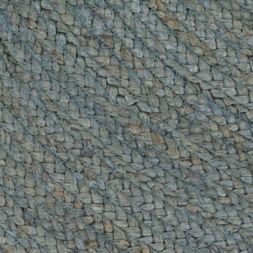 vidaXL håndlavet tæppe jute rund 150 cm olivengrøn