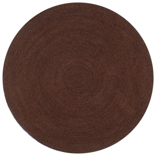 vidaXL håndlavet tæppe jute rund 150 cm brun