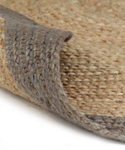 vidaXL håndlavet tæppe med grå kant jute 120 cm