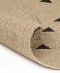 vidaXL håndlavet tæppe med trekantsprint jute 150 cm