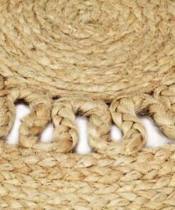 vidaXL håndlavet tæppe flettet jute 150 cm