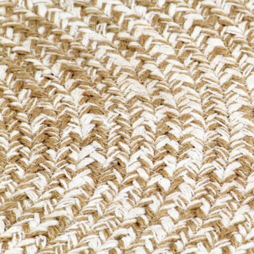 vidaXL håndlavet tæppe jute 150 cm hvid og naturfarvet