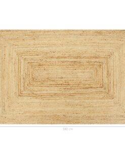 vidaXL håndlavet tæppe jute 120 x 180 cm naturfarvet