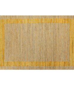 vidaXL håndlavet tæppe jute 80 x 160 cm gul