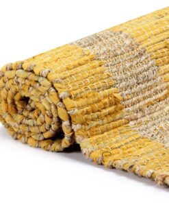 vidaXL håndlavet tæppe jute 160 x 230 cm gul