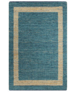 vidaXL håndlavet tæppe jute 160 x 230 cm blå