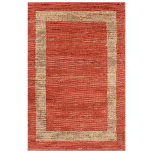 vidaXL håndlavet tæppe jute 120 x 180 cm rød