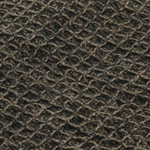 vidaXL plaid 160 x 210 cm bomuld antracitgrå/brun