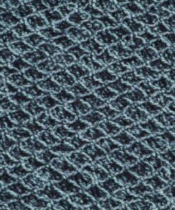 vidaXL plaid 125 x 150 cm bomuld indigoblå
