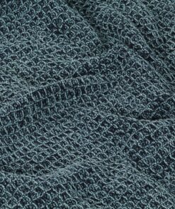 vidaXL plaid 220 x 250 cm bomuld indigoblå