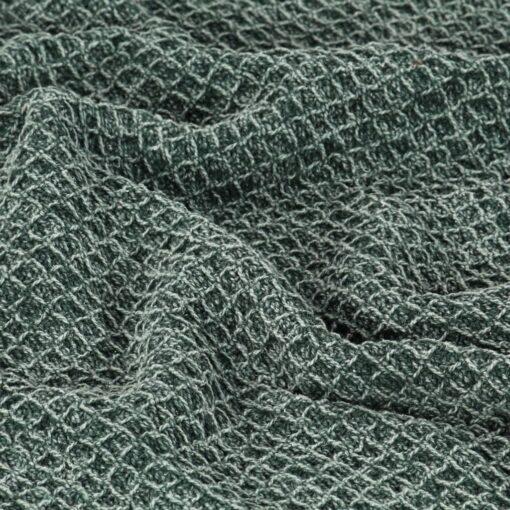 vidaXL plaid 125 x 150 cm bomuld mørkegrøn