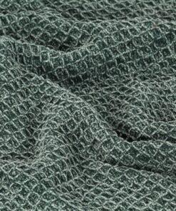 vidaXL plaid 160 x 210 cm bomuld mørkegrøn