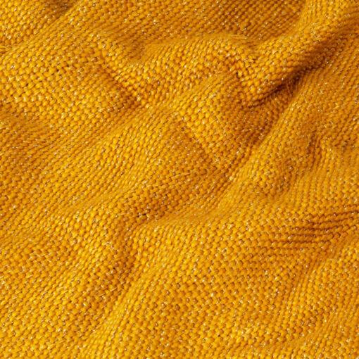 vidaXL plaid 125 x 150 cm lurex sennepsgul