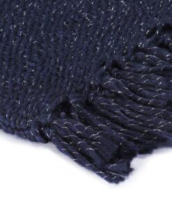 vidaXL plaid 160 x 210 cm lurex marineblå