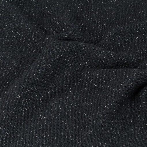 vidaXL plaid 125 x 150 cm lurex antracitgrå