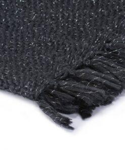 vidaXL plaid 220 x 250 cm lurex antracitgrå